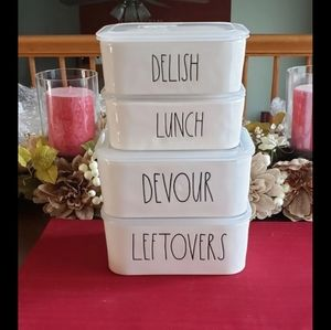 Rae Dunn storage containers set 4